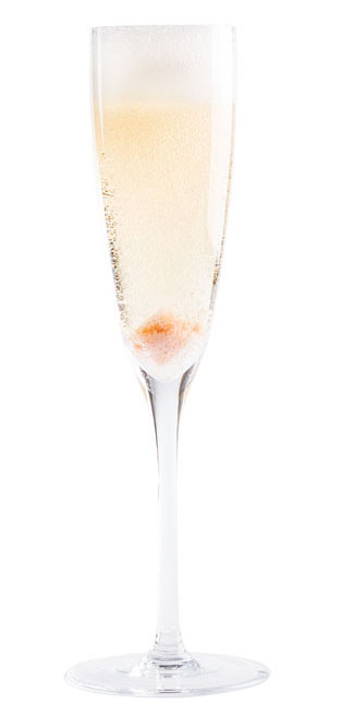 Champagne Cocktail. | Photo by Lara Ferroni.
