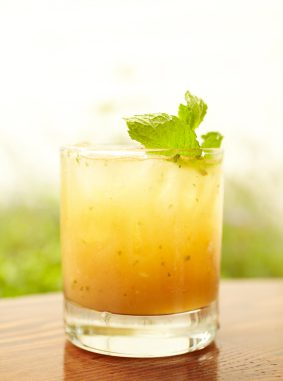 Bourbon and Peach Smash