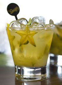 Sake and Starfruit Caipirinha