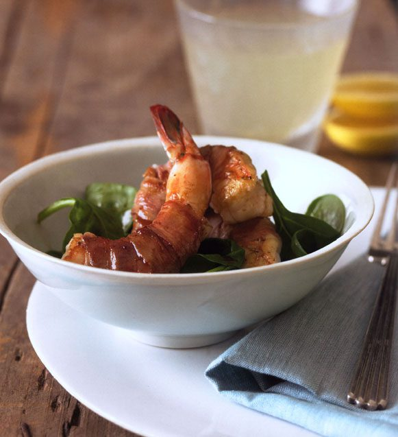 cognac shrimp or scallops