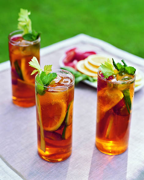 When Homemade Pimm's scales up for a crowd, no one leaves the party unhappy. | Photo by Pieter Estersohn.