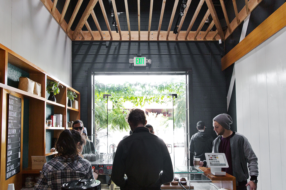 The airy interior of Blacktop Coffee.