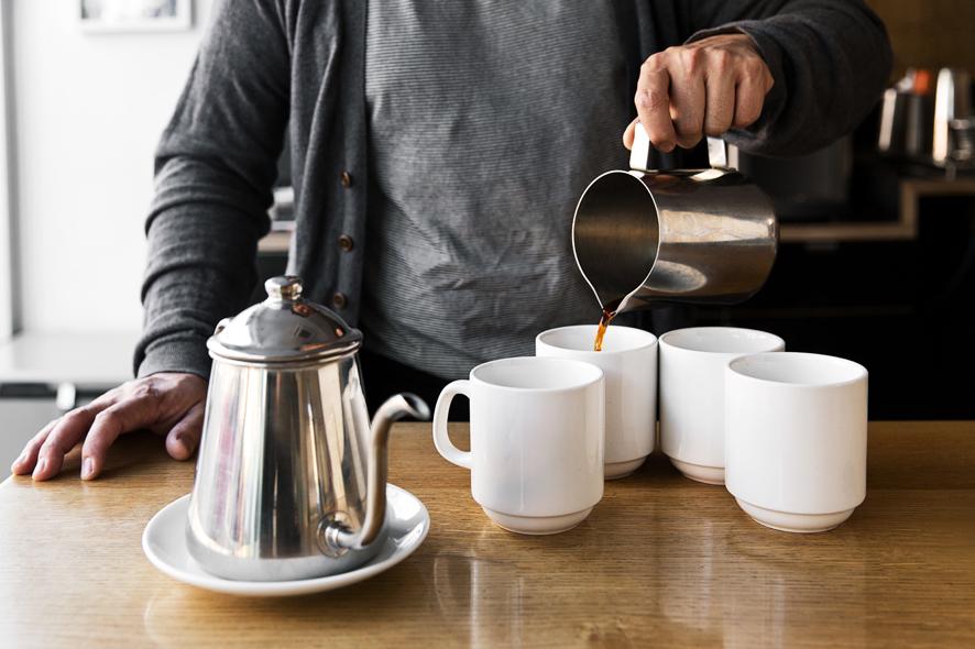 Coffee service at Cognoscenti.
