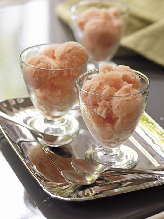 Grapefruit Campari sorbet. Photo by Ben Fink.