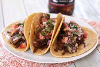 stout-braised beef tacos