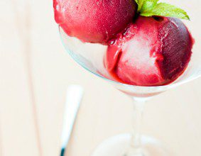 strawberry wine sorbet
