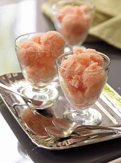 grapefruit and campari sorbet