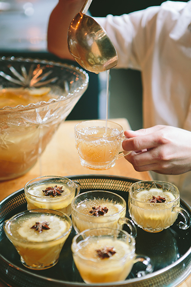 Fit for the whiskey-drinking crowd, the Fort Point Punch recipe from Drink in Boston has holiday party written all over it.  | Photo by Brian Samuels.