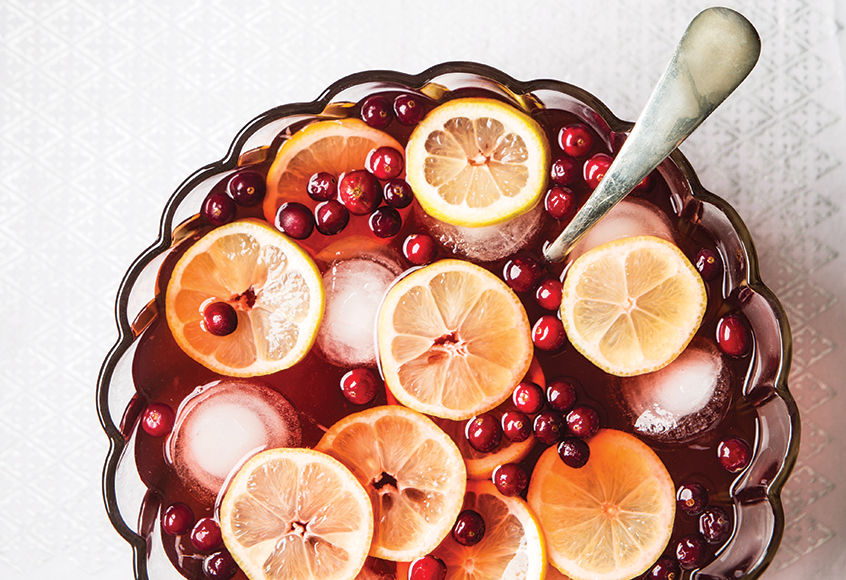 Combining vodka, Aperol and rosemary-infused cranberry juice with citrus, simple syrup and seltzer, the Vixen Punch is the perfect crowd-friendly punch. | Photo by Lara Ferroni