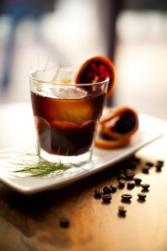 blood orange iced coffee