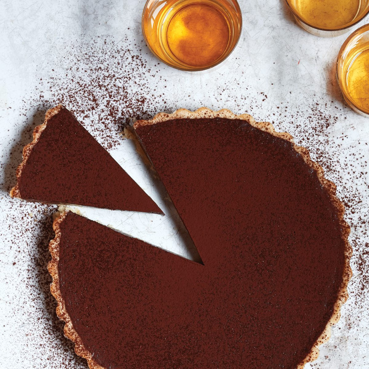 Chocolate Cognac Tart. | Photo by Aya Brackett.