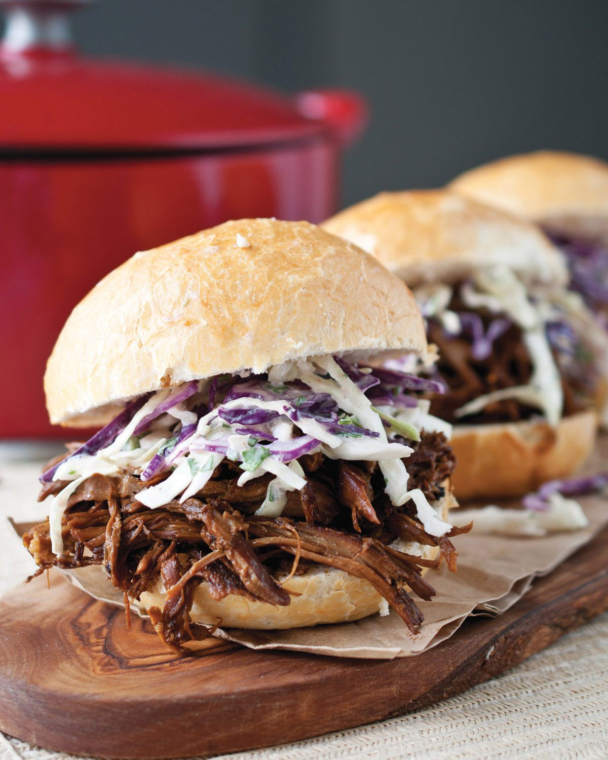 Porter-Braised Pulled Pork Sandwiches. | Photo by Jacquelyn Dodd.