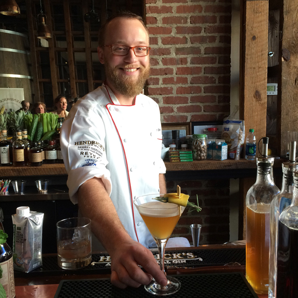 Kyle DeGolyer from Poogan's Porch won the cocktail competition with his Honey Boo Boo: a combo of Ancho Reyes, grapefruit, honey, Rosemary creole bitters and coconut water.