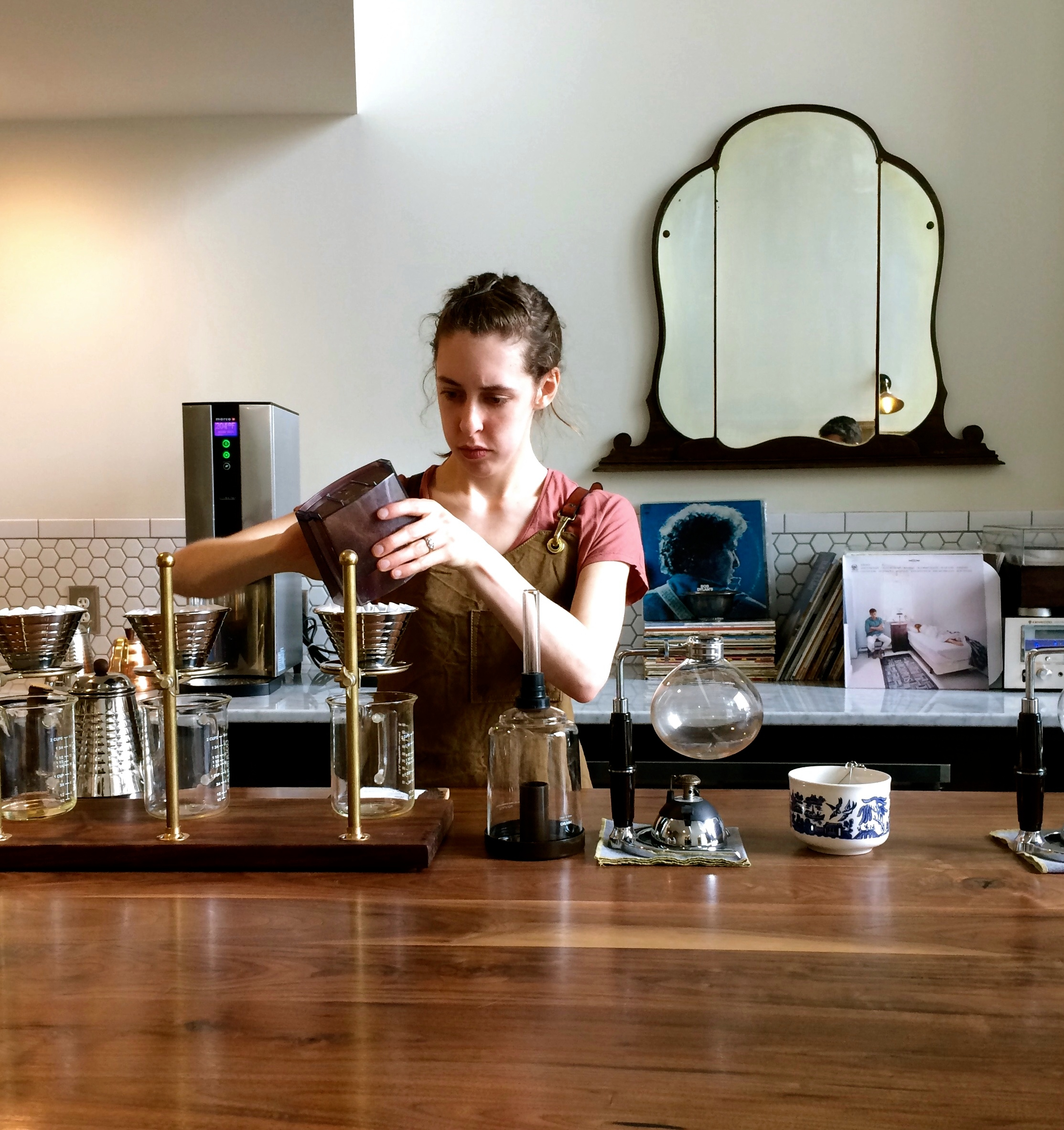 The pourover station at work. | Photo by Imbibe