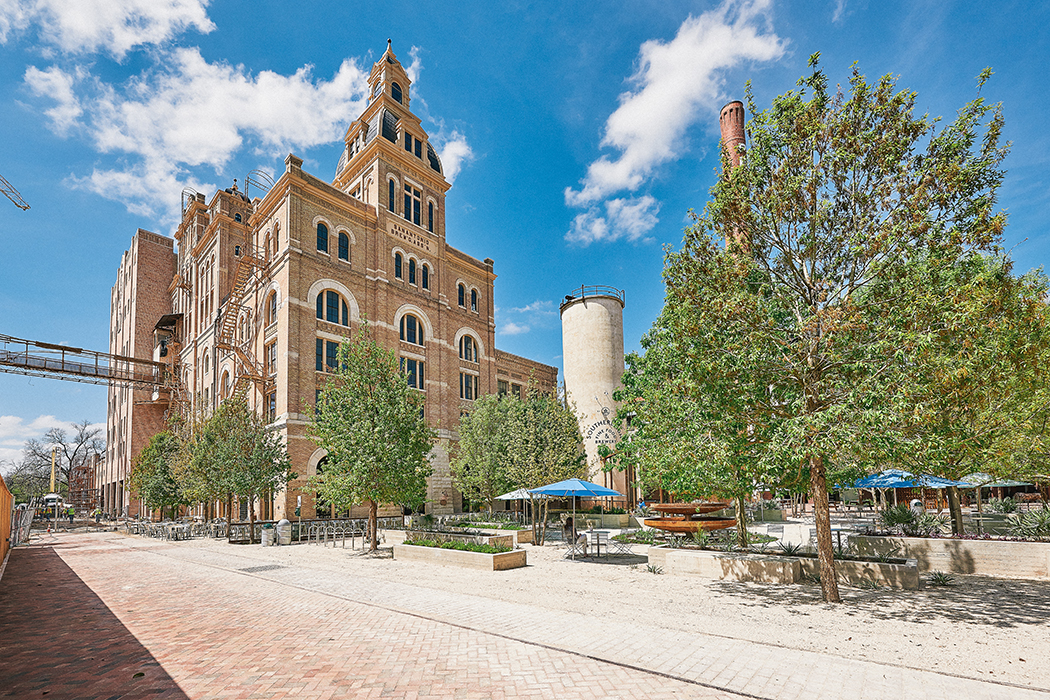 San Antonio's historic Pearl Brewery is a mixed-use development on the banks of the river.