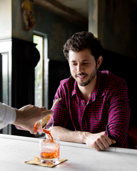 Alma chef Ari Taymor orders a Negroni at Bar Stella in Silver Lake.