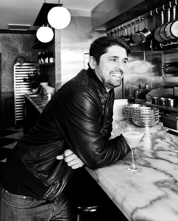 Ludo Lefebvre steps up to the bar for a Belle du Jour cocktail at his own restaurant, Petit Trois.