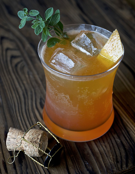 A California Saison blends with Aperol, grapefruit, honey, lemon and marjoram in this Beer and Loathing cocktail. | Photo by David L. Reamer.