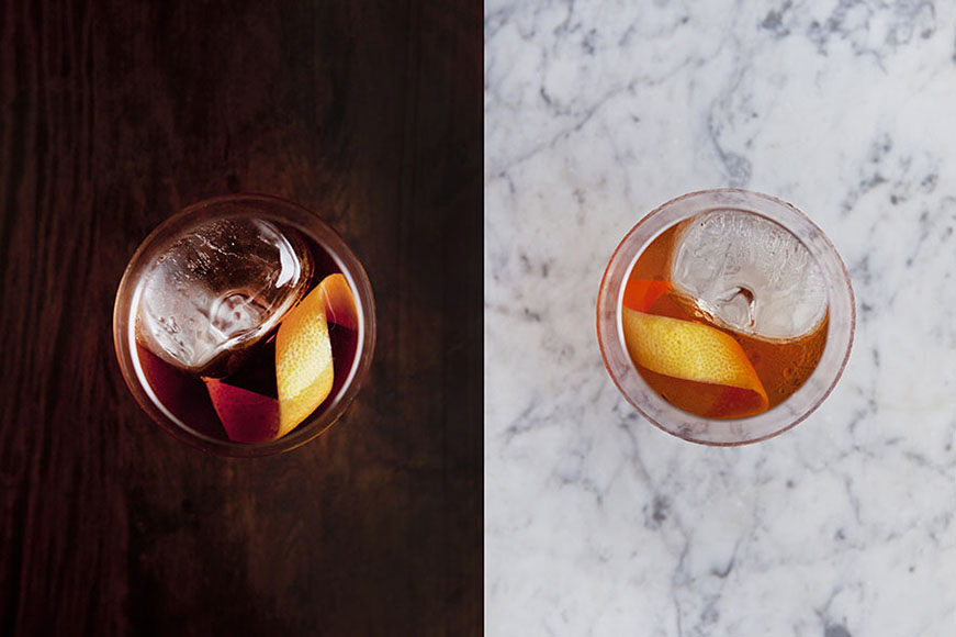 This simple Negroni riff from Forquilha in São Paulo, Brazil ups the gin a notch to boost the drink's botanical nature. | GET THE RECIPE