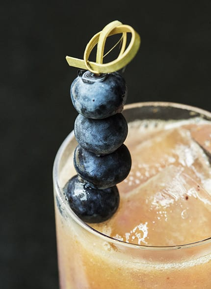 Sephia Blueberry Cocktail. | Photo courtesy Adamus Chicago.