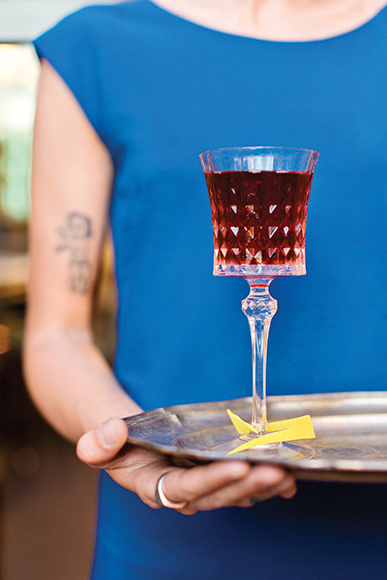 Created for the inaugural Expo in Milan, this Bellissimo Aperitivo combines the rich notes of vermouth with dry fino sherry and the ornate bitterness of Fernet-Branca. It's served at three-year-old Caffè Propaganda, located near the Colosseum.