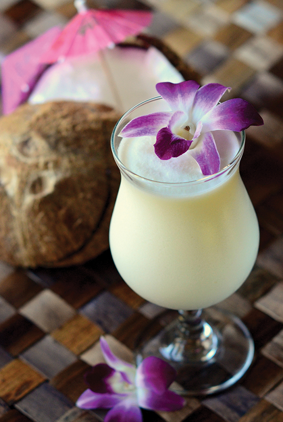 As decadent as it is delicious, the Brazilian Cachaca Batida is a true tropical escape. | Photo by Robert Sharp.