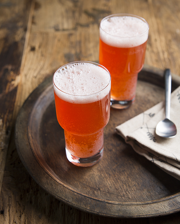 The classic shandy recipe gets a bitter twist with grapefruit-kissed Aperol in the The Last Shandy recipe. | Photo by Lara Ferroni.