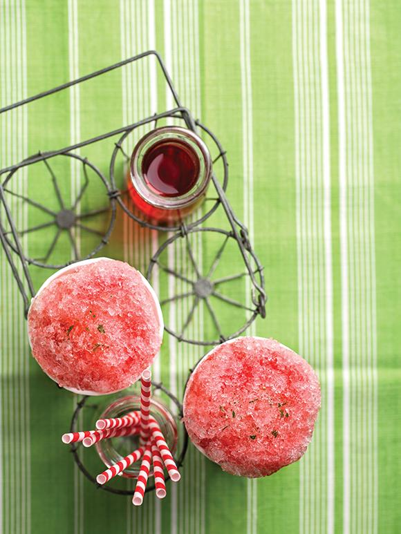 strawberry tarragon snow cone