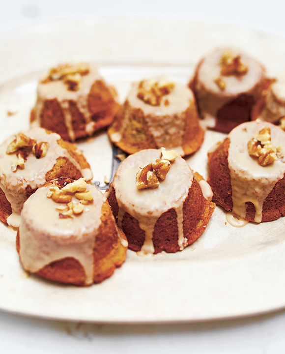 Coffee Cardamom Walnut Cakes. | Photo by Kristin Perers.