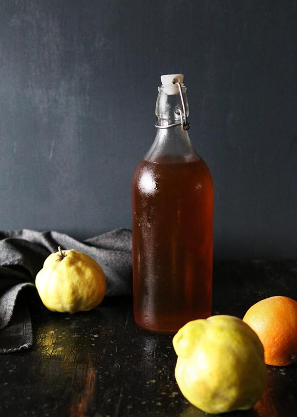 apple and quince liqueur-vertical-crd brandon matzek kitchenkonfidence dot com