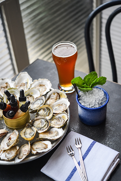 Fresh seafood anchors the food menu, flanked by a small but solid list of beer and cocktails.