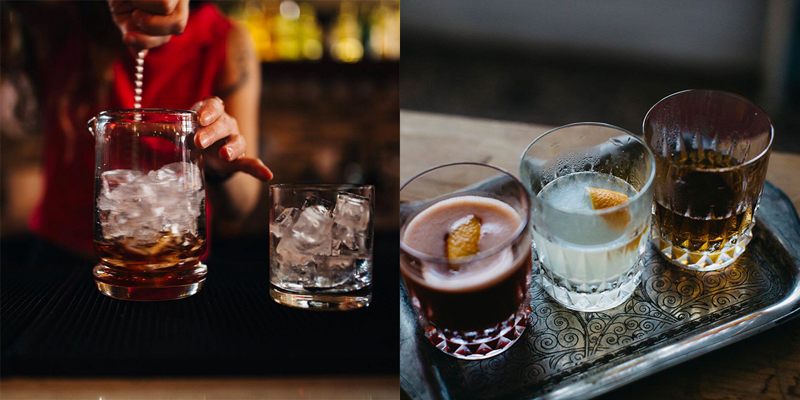Simple, gorgeous and sometimes garnished with gummy bears, the drinks from Winnipeg bar Albert Street Cocktail Co. have us thinking that a trip to Canada might not be a bad idea. Left photo by Janine Kropla, right photo by Josh Dookhie.| Follow them at @albertstreetcocktailco