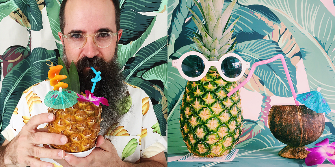 A scroll through the colorful and comical photos from Lost Lake Tiki (think lots of fruit wearing sunglasses) will instantly make you smile, and leave you craving a fruity rum drink. | Follow them at @lostlaketiki