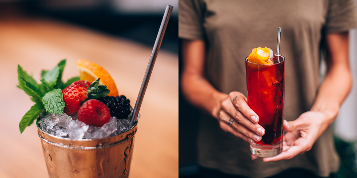 It's a toss-up for what looks more delicious at LA-based restaurant Redbird, the food or the cocktails. We'll take some of each. Photos by Michelle Park. | Follow them at @redbirdla