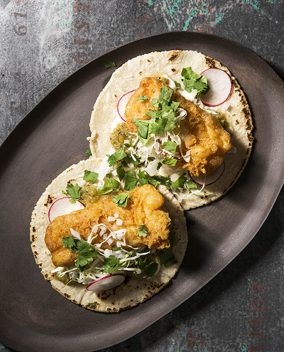 Beer-Battered Fish Tacos. | Photo by Evan Sung.