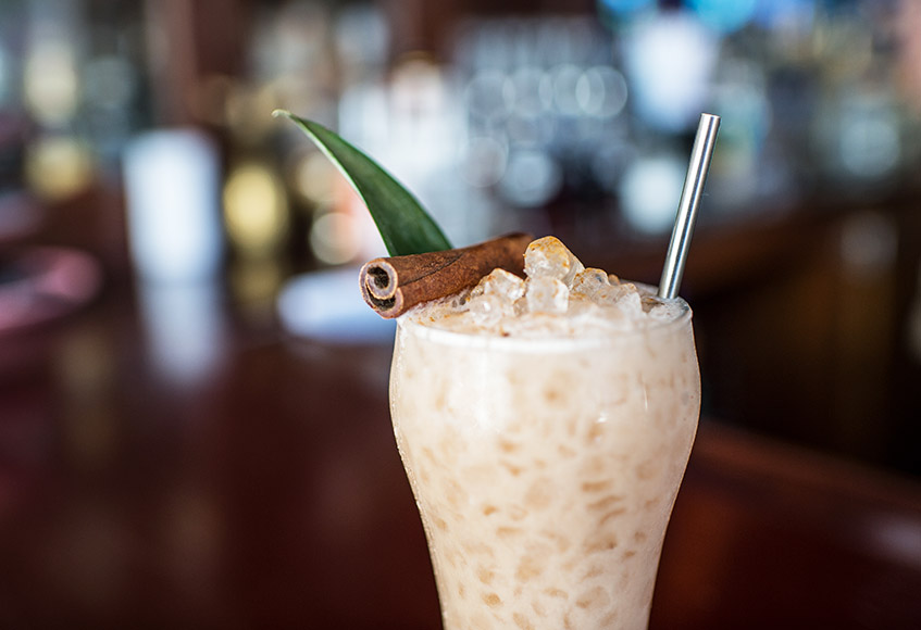 The Alabaster Caverns is a new fall seasonal, a Pina Colada-inspired concoction that swaps rum out for scotch and works in a medley of spices and sorrel as a nod to the state parks of Boelte's native Oklahoma.