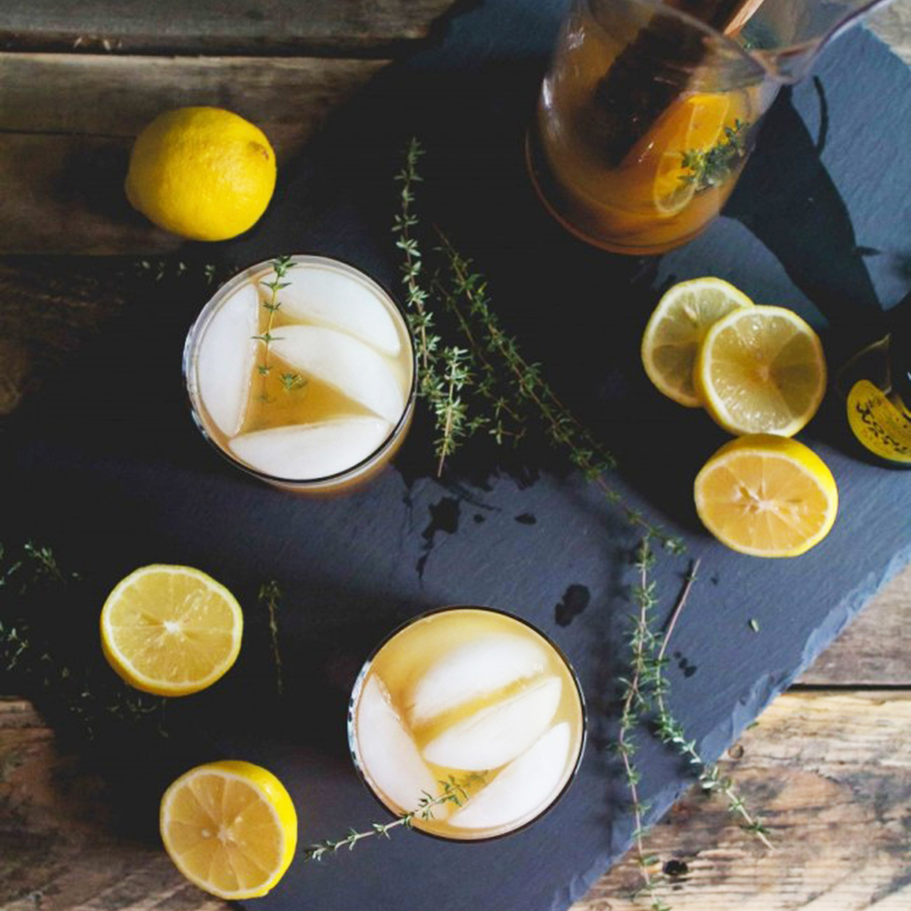 Cider, Thyme and Tonic Mocktail. | Photo courtesy OffbeatandInspired.com