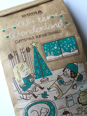 Doma coffee Winter Wonderland