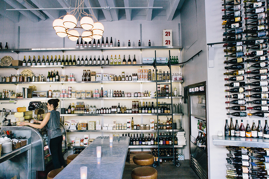 Union Larder isn't just a great place to grab a glass of wine—it's also a wine shop, specialty food store and restaurant.