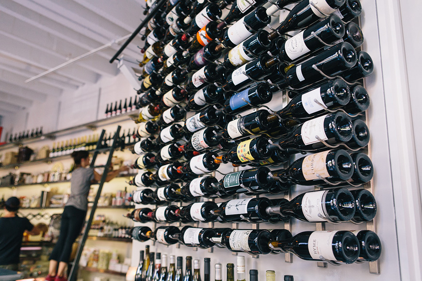 The bar offers 50 wines by the glass, with around 10 changing every week.