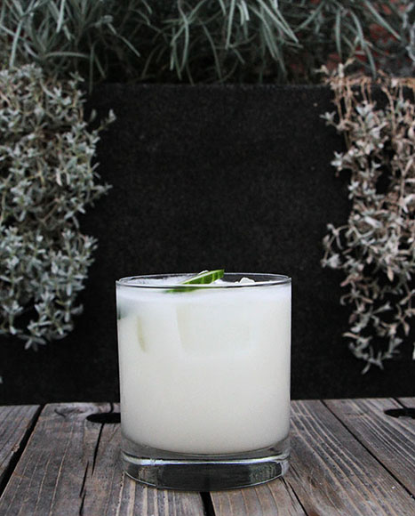 Tequila and coconut lead the flavor in the Milk Maid, but cucumber sneaks in the outskirts. | Photo by Emma Janzen.