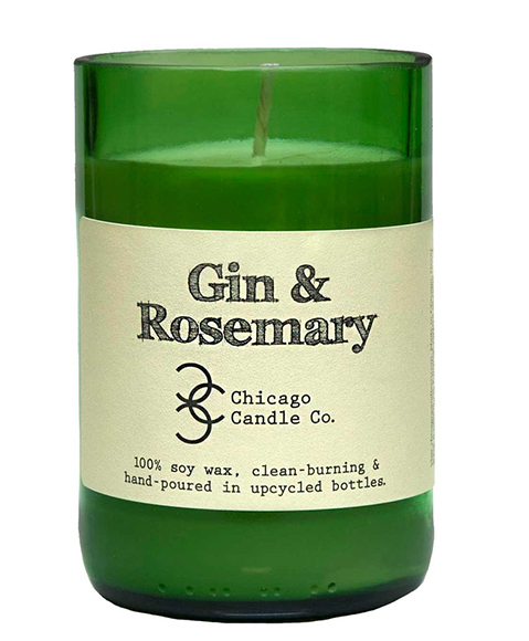 Chicago Candle Company Gin & Rosemary Candle.