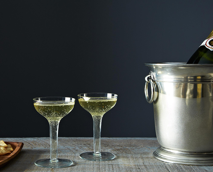 Food52's vintage Champagne Coupes. | Photo by James Ransom/Food52.