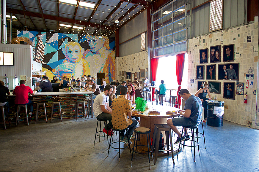 Modern Times is not your typical brewery, with a diverse roster of beers and unusual interior design scheme.