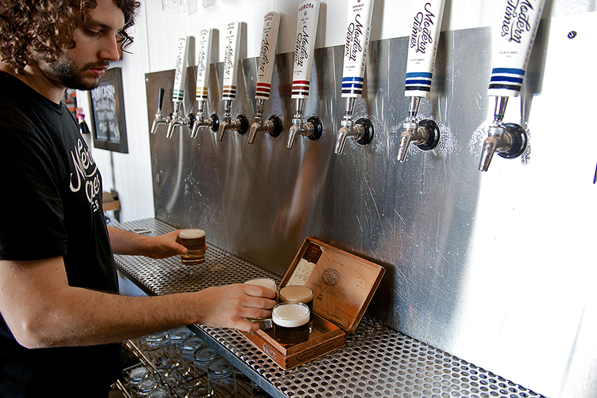 16 taps pour everything from grape must–infused saisons to dank IPAs.