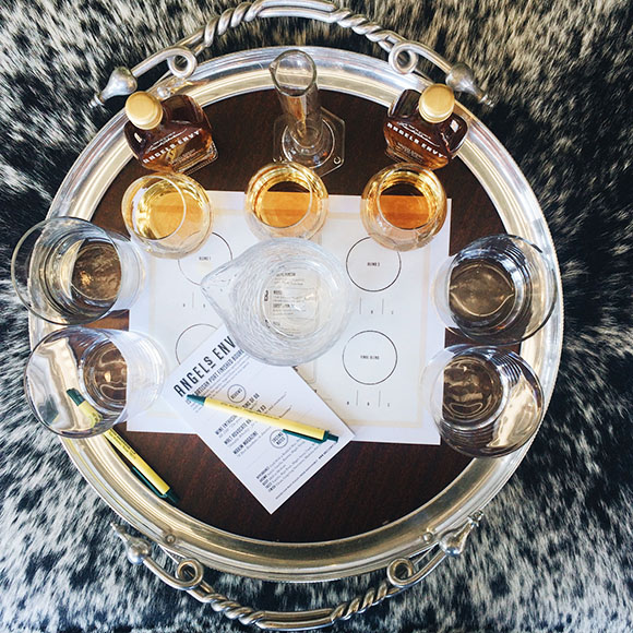 One of the most interesting seminars we attended  was the Angel's Envy class on whiskey blending. Teams of three experimented with various ratios of three different whiskey batches to find the perfect balance.