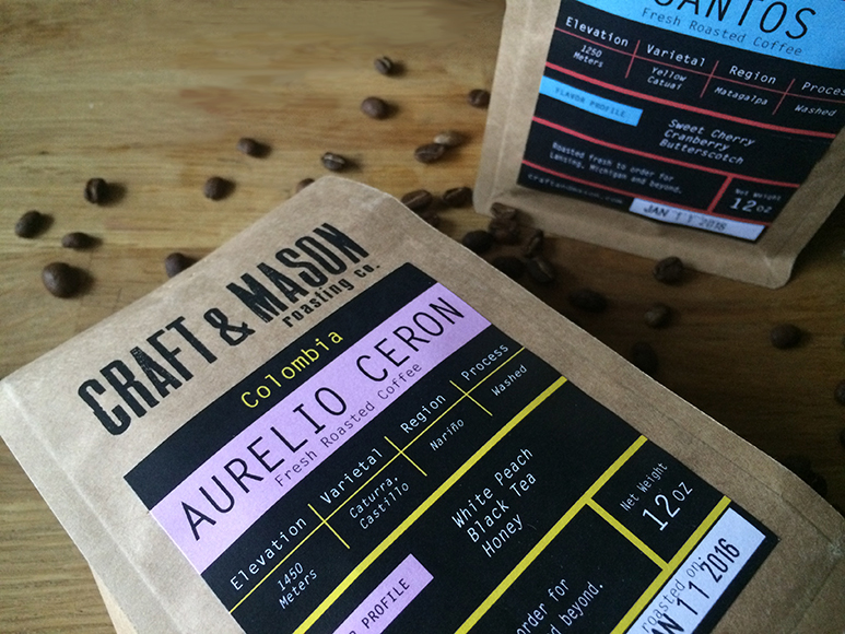 Craft & Mason Coffee Aurelo Ceron Colombian.   Photo by Emma Janzen