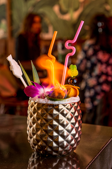 It wouldn't be a tiki bar without flaming drinks.