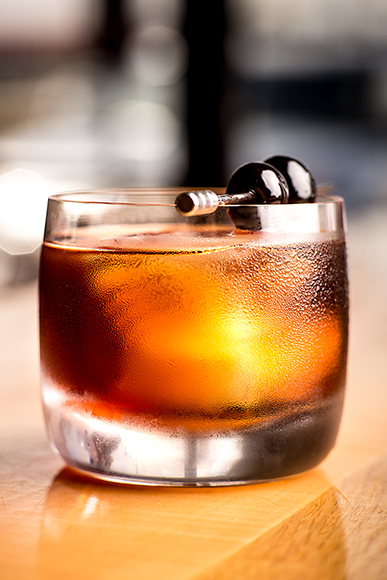 Onyx baristas are known for their creative zero-proof mixed drinks, like this cascara-based riff on the boozy Dark & Stormy.