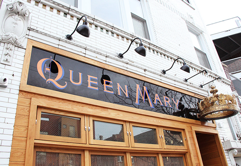 Named after the former owner of this historic Chicago tavern, Queen Mary is a new cocktail bar with a maritime cocktail theme.  Photo by Emma Janzen.